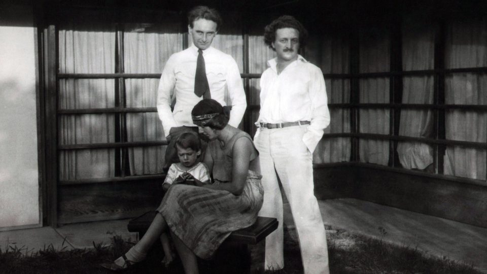 Richard, Dion, Dione Neutra and Rudolph Schindler at the Schindler Kings Road House