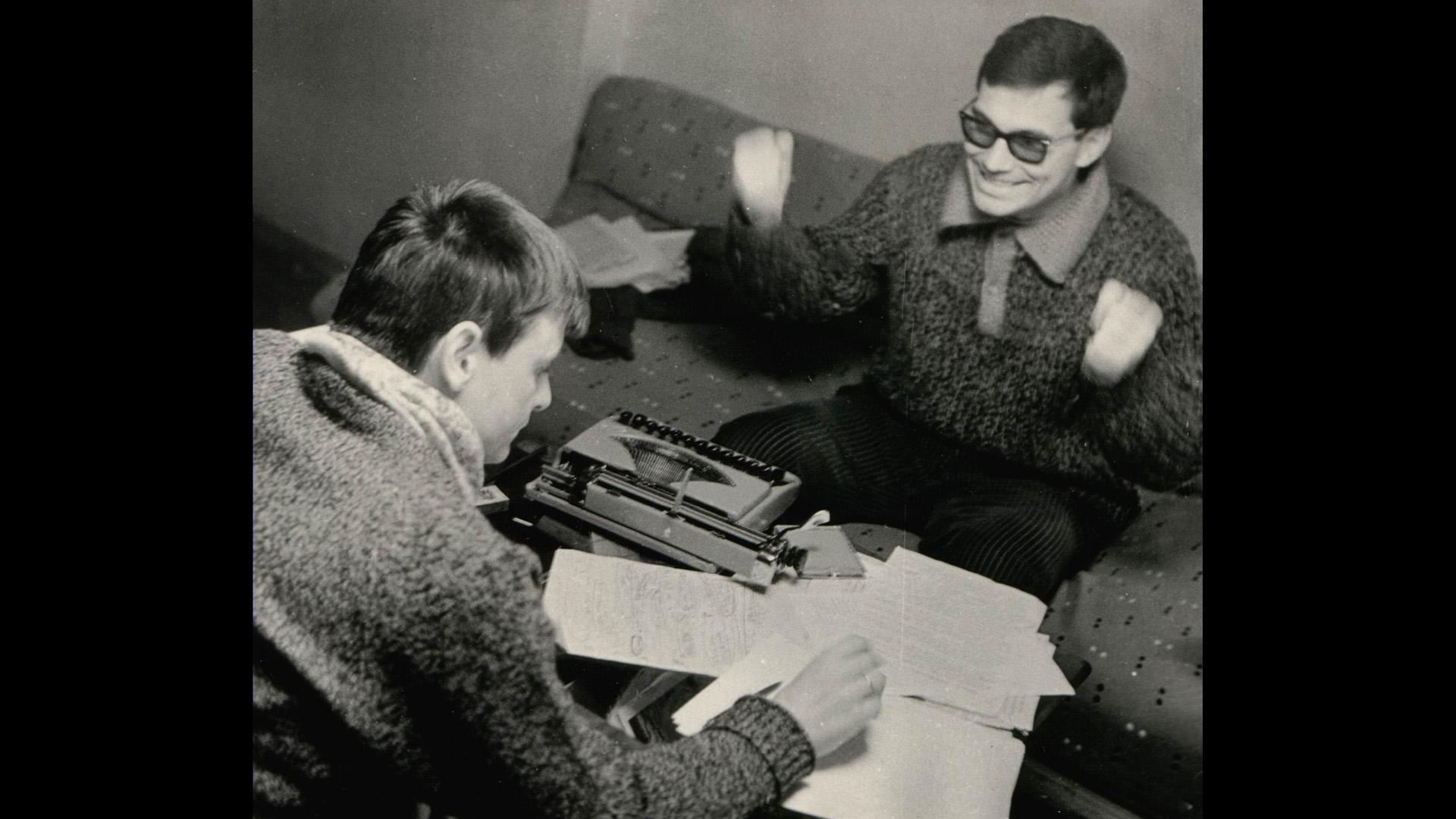 Andrei Tarkovsky and Andrei Konchalovsky, courtesy Andrei Konchalovsky personal collection