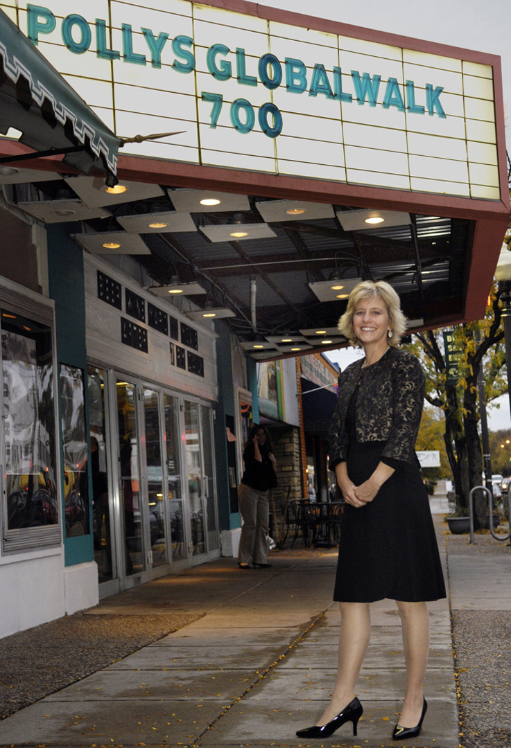 Polly Letofsky at Parkway Theater, Minneapolis, for Premiere of Polly's GlobalWalk