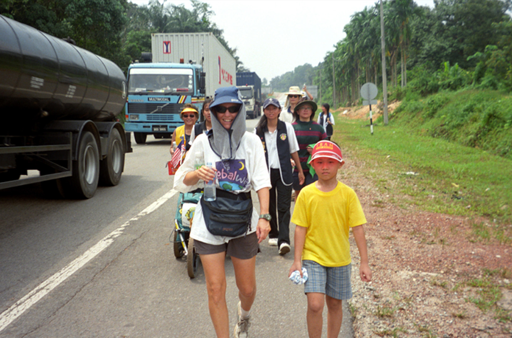 Polly Letofsky walking in Malaysia in Pollys GlobalWalk